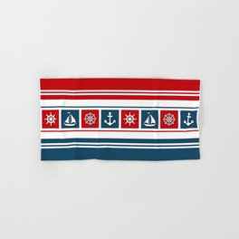 Nautical symbols Hand & Bath Towel