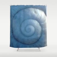 shell Shower Curtains featuring shell by Motif Mondial