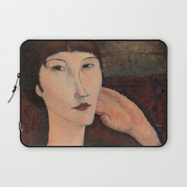 Amedeo Modigliani - Adrienne (Woman with Bangs) Laptop Sleeve