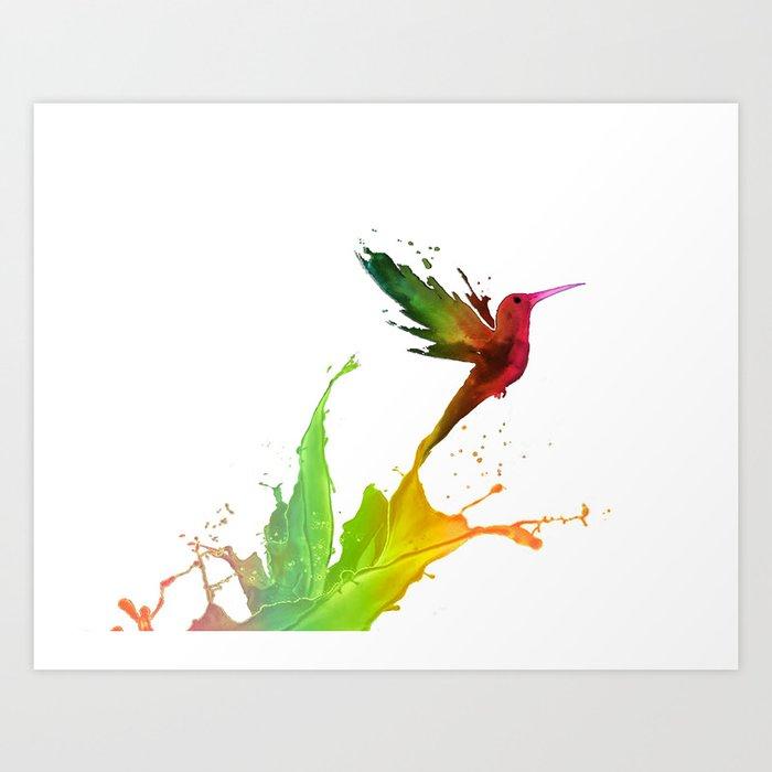 Humming Bird Colors Art Print