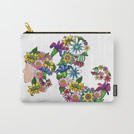 Blooming Ponytail Carry-All Pouch