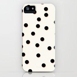 Black & Coral Dots iPhone Case