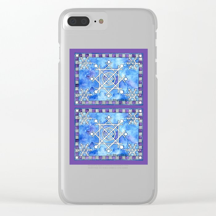 Snowflakes Clear iPhone Case