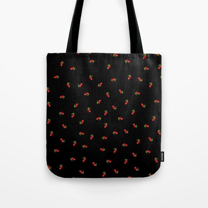 Dark Delicate Cherry Tote Bag