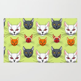 Various colored cats Rug