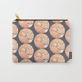 Sleeping Fox Pattern Carry-All Pouch