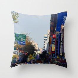 Taichung city photo Throw Pillow