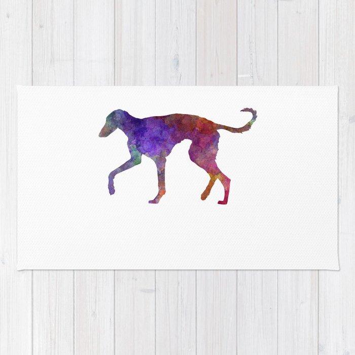 Polish Greyhound in watercolor Rug