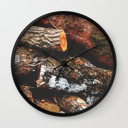 Wood Heap Wall Clock