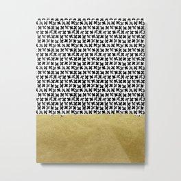 Black Gold Boho IV Metal Print