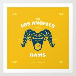 LA Rams are Back Art Print
