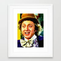 willy wonka Framed Art Prints featuring Willy Wonka by Paul Van Scott