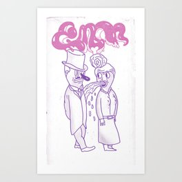 barf onto others Art Print