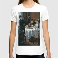 monet T-shirts featuring The Luncheon - Claude Monet - 1868 by Paulrommer