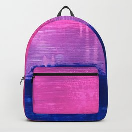 Bisexual Flag: abstract acrylic piece in pink, purple, and blue #pridemonth Backpack