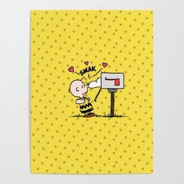 Kiss Smak Snoopy Poster