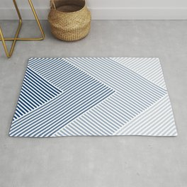 Shades of Blue Abstract geometric pattern Rug