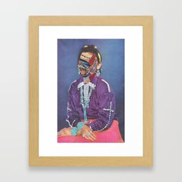 Lady Juxtapose Framed Art Print