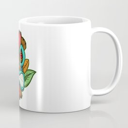 Tiki Mask Illustration Coffee Mug