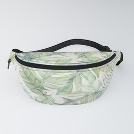 Green Tropical Leaves Fanny Pack