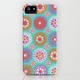 Bright Flower Doodles iPhone Case
