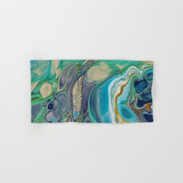 Fluid Abstract - Blue and Purple Hand & Bath Towel