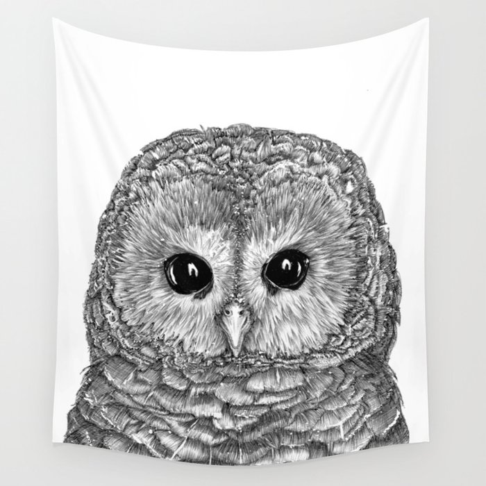 Tiny Owl Wall Tapestry