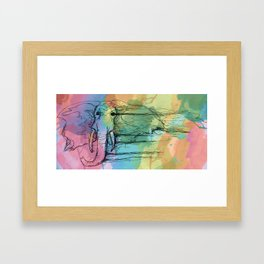 Watercolor for Elephants. Framed Art Print