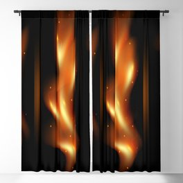 Tongues of flame Blackout Curtain
