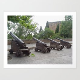 Cannons in the Alhambra of Granada Art Print