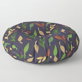 Leaf seamless pattern Floor Pillow