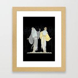 """Opening Night Fashion"" Art Deco Design Framed Art Print"