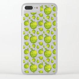 Swirly Apple Clear iPhone Case