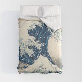 The Great Wave off Kanagawa by Katsushika Hokusai from the series Thirty-six Views of Mount Fuji Comforters