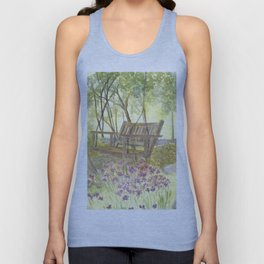 Bedrock Garden Spring on In and Out Pathway Unisex Tank Top