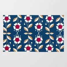 Blue floral pattern . Rug