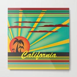 Welcome to California Metal Print
