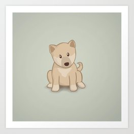 Shiba Inu Dog Illustration Art Print