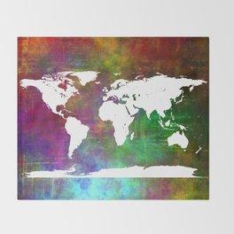 WORLD MAP #society6 Throw Blanket