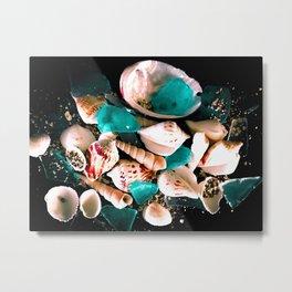 Glass Shell Metal Print