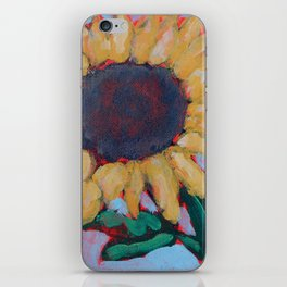 Blue Sunflower iPhone Skin