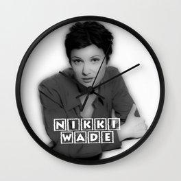NIKKI WADE Wall Clock
