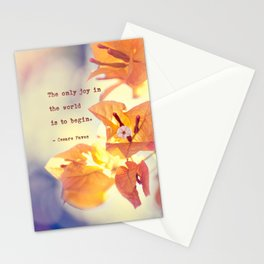 Begin with Joy Stationery Cards