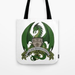 Clan Stonefire Green Dragon Crest Tote Bag