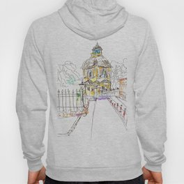 urban sketch in watercolor Hoody