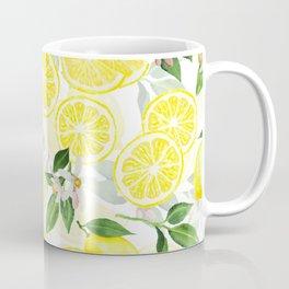 mediterranean summer lemon fruits on white Coffee Mug