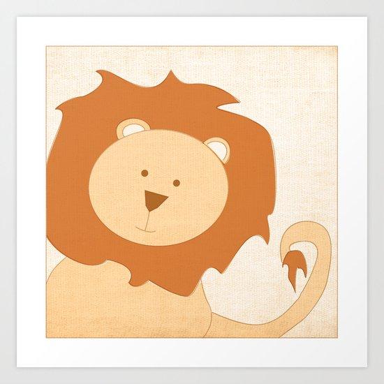 Lion Jungle Series Print Art Print
