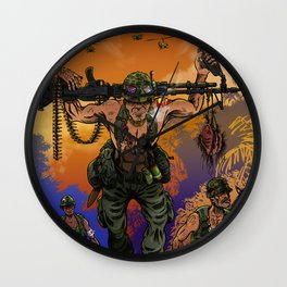 War Machine - The Nam Dude Wall Clock