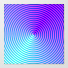 Coiled in Blue and Pink Canvas Print