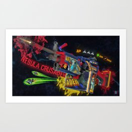 Machine Gun 10 Art Print